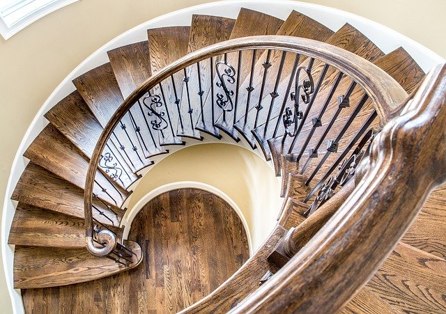 interior staircase of a portland home for sale