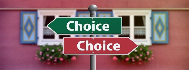 street sign showing different home selling choices